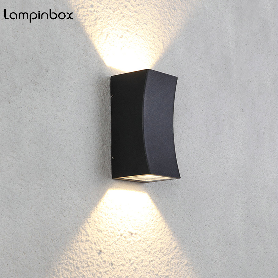 LED Wall Light Outdoor Waterproof IP65 Modern Nordic Style Indoor Wall Lamps Living Room Porch Garden Lamp AC90-260V LP-16 18w led outdoor waterproof wall light ip65 modern nordic style indoor wall lamps living room porch garden lamp ac90 260v lp 42