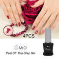 MRO 4 pieces/lot pell off one step gel nail polish 3 in 1 nails gel professional esmaltes permanentes de uv lacquer nail glue
