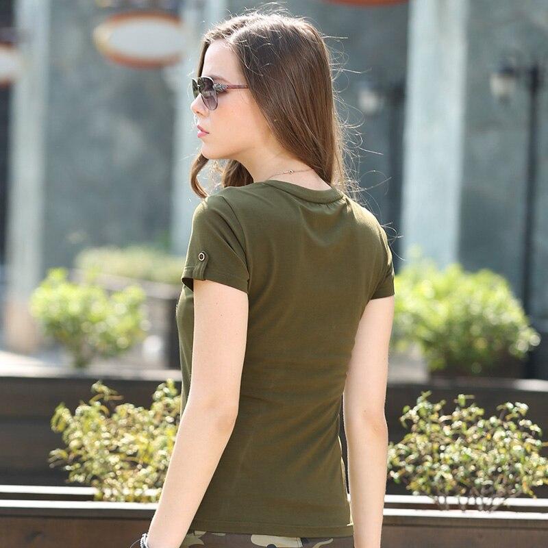 Ljeto Modne Dame Majice Majice Žene Vojska Zelena O Vrat pamuk Marka - Ženska odjeća - Foto 5