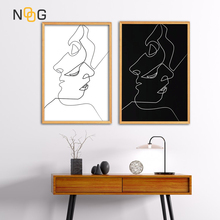 NOOG Modern Minimalist Fashion Poster Curve Nordic Wall Art And Prints Painting Living Room Decor Canvas Print