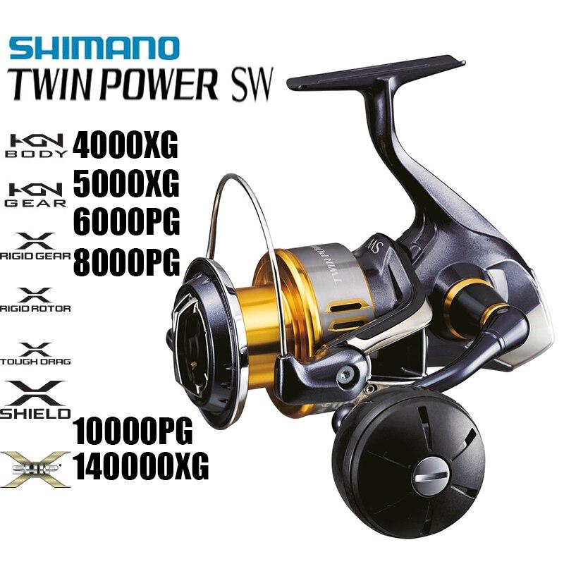 SHIMANO TWIN POWER SW 4000XG 5000XG 6000PG 8000PG 10000PG 14000XG 11 + 1BB HAGANE moulinet de pêche à l'eau de mer