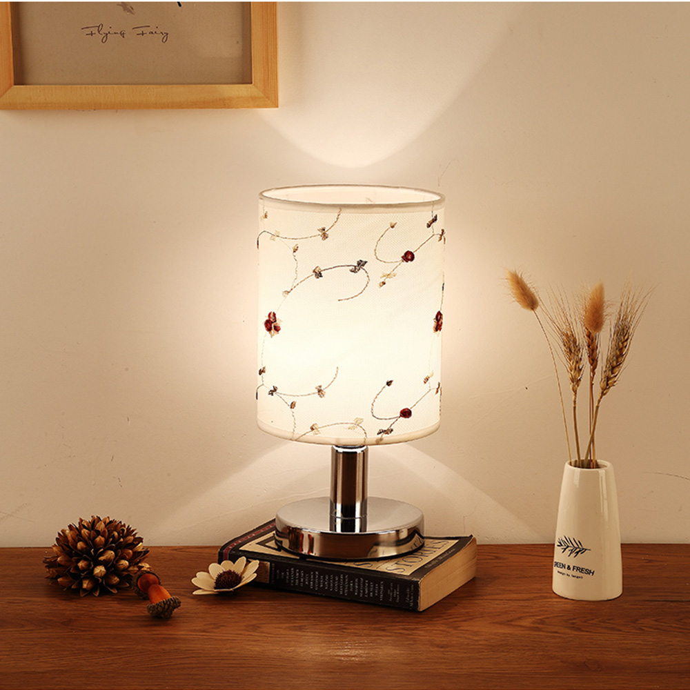 Table Lamps Study 110 220v Metal Luminarias Mesa Desk Lamp E27 Touch Switch Button Table Lamp Luminaria Led Stand