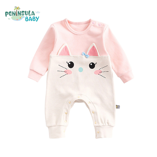 c272e3232e83 Naughty Bear Cat Funny Animal Long Sleeve Jumpsuit Newborn Baby ...