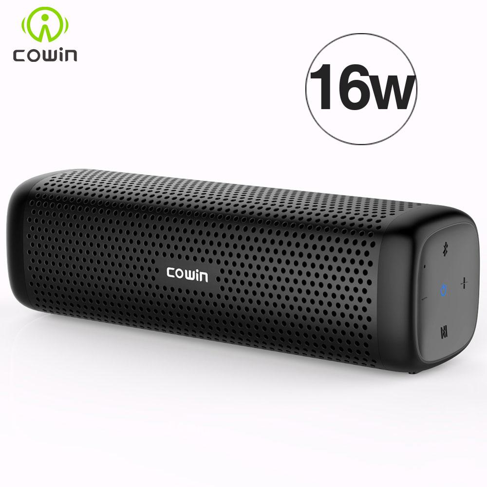 Cowin 6110 Mini Drahtlose Bluetooth 4,1 Stereo Tragbare Lautsprecher mit 16 Watt Verbesserte Bass Mikrofon Tf Mp3-player