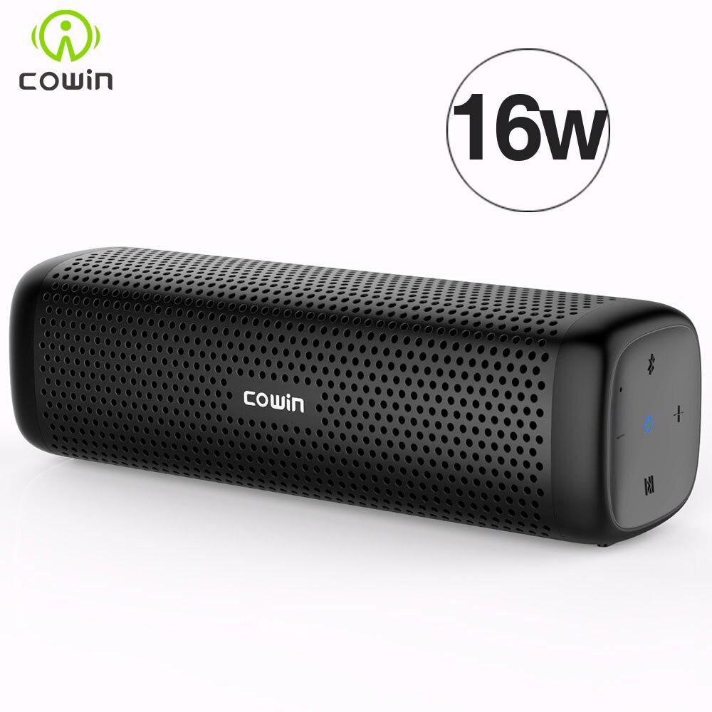 Cowin 6110 Mini Sans Fil Bluetooth 4.1 Stéréo Portable Haut-Parleur avec 16 W Amélioré Basse Microphone TF Carte Lecteur MP3 Extérieure