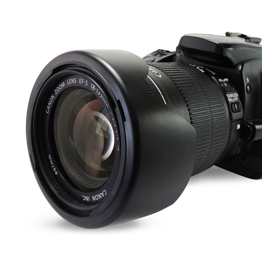 EW-73B 67mm ew 73b EW73B Lens Hood Reversible Camera Lente Accessories for Canon 650D 550D 600D 60D 700D 18-135 17-85 mm Lens 2