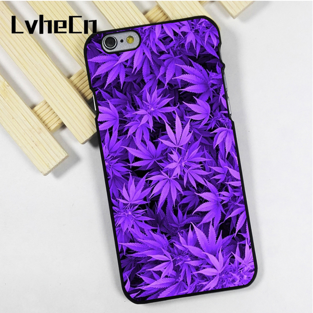 reputable site 63a87 13013 US $3.95 8% OFF|LvheCn phone case cover fit for iPhone 4 4s 5 5s 5c SE 6 6s  7 8 plus X ipod touch 4 5 6 Weed Cannabis Marijuana UV Lights-in Fitted ...