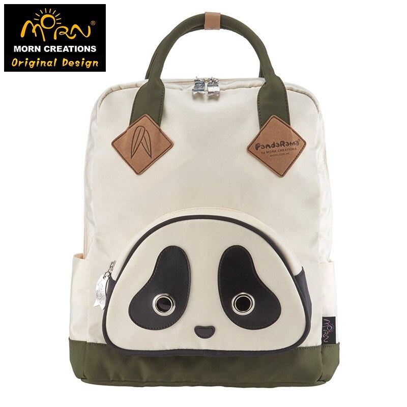 Original Design Morn Creations The Panda Style 900D Polyester Panda Backpack SB-101-102 morn creations hong kong original design soft handle panda backpack blue laptop school bags