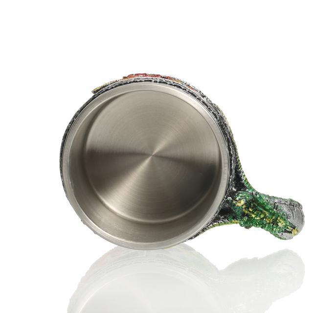 3D Wolf Head Drinking Steel Mug