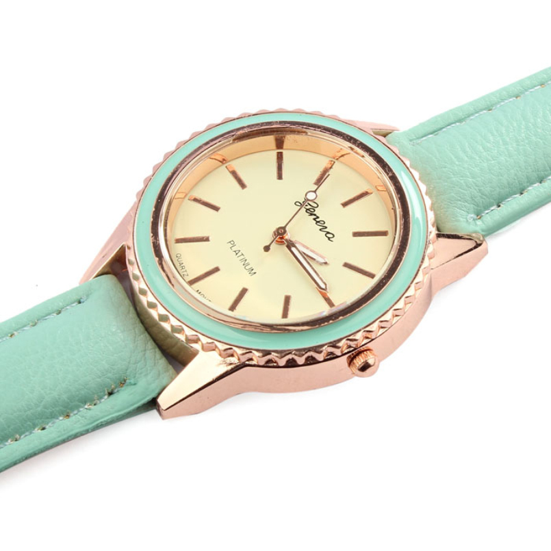 Excellent Quality 2016 Fashion Simple Style Famous Luxury Brand Quartz Watch Women Casual Leather watches Clock Reloj mujeres