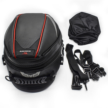лучшая цена Waterproof Zipper Bag Hard Shell Pouch Large Capacity Reflective Bag Shoulder Backpack Helmet Storage Bag Travel Bags