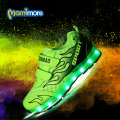 Luminosa sneaker shoes 2017 todas as estações de carregamento usb led light-emitting sports shoes respirável borracha unisex casual shoes