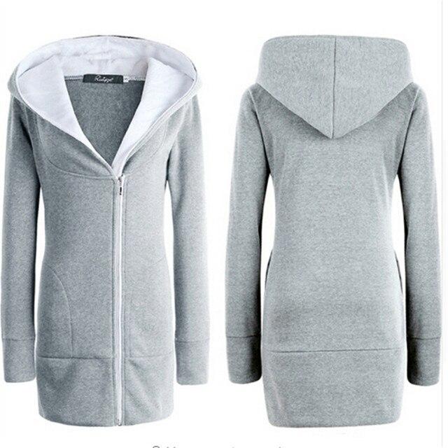 9fda426b9a Damskie bluzy z kapturem jesień zima ciepły polar bawełny kurtka płaszcz  kobiet na zamek błyskawiczny odzieży
