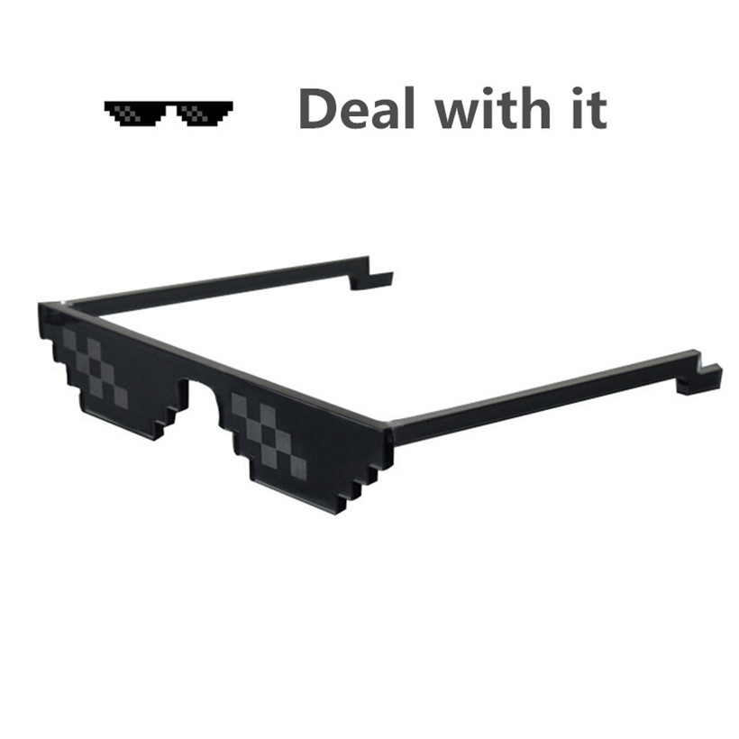New arrival Deal With It Sunglasses 8 Bits attitude sunglasses eyewear popular around the world font