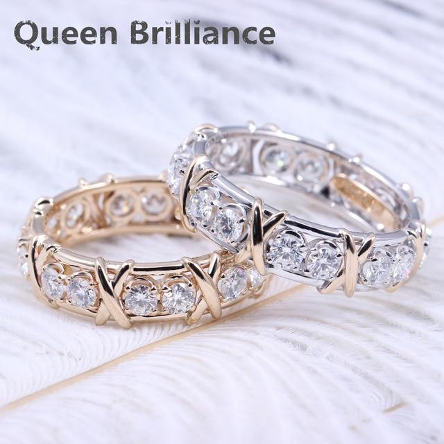 Queen Brilliance Engagement Wedding Lab Grown Moissanite Diamond