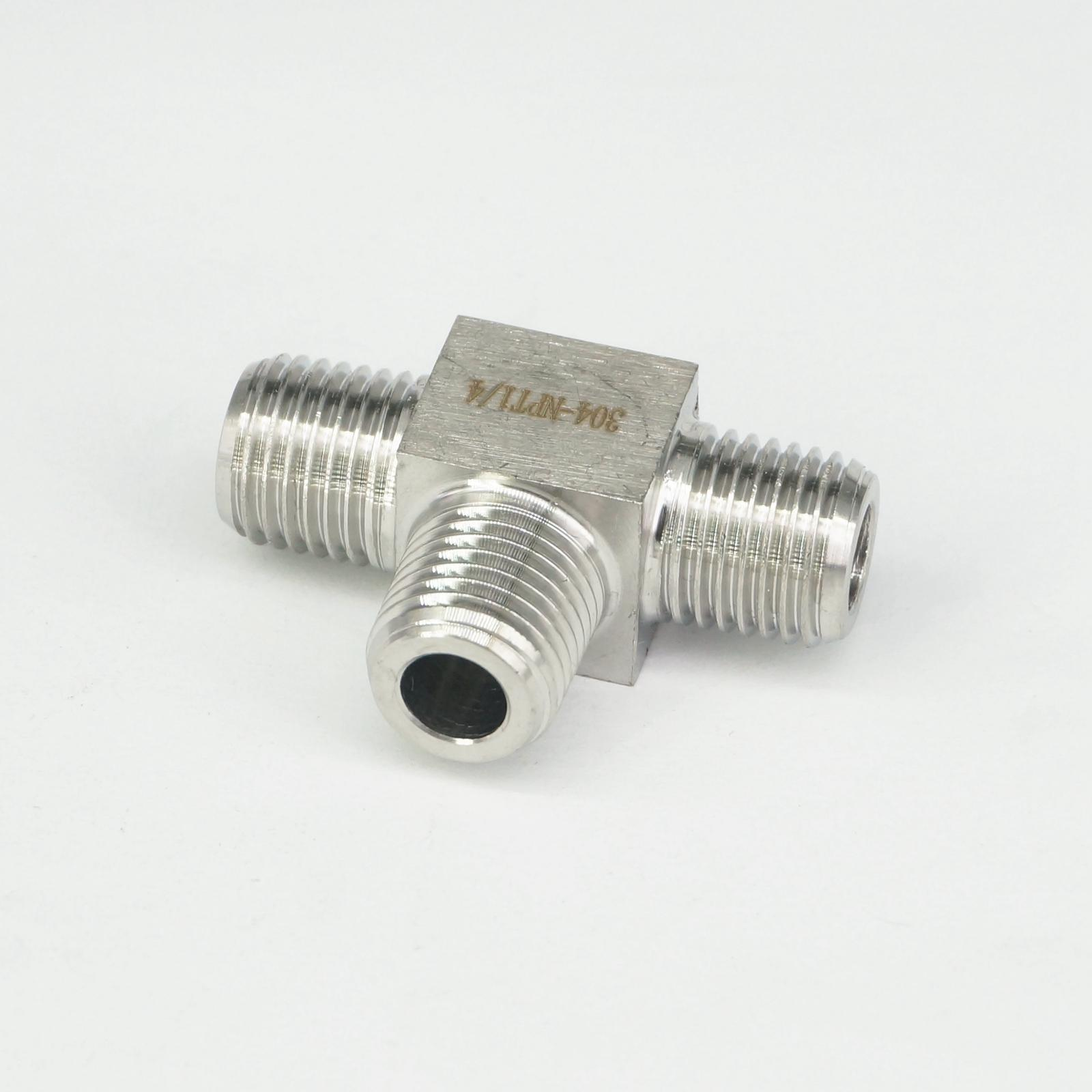 """1//2/"""" NPT Male Tee 3 Way Pipe Fitting 304 Stainless Steel Water Gas Oil"""