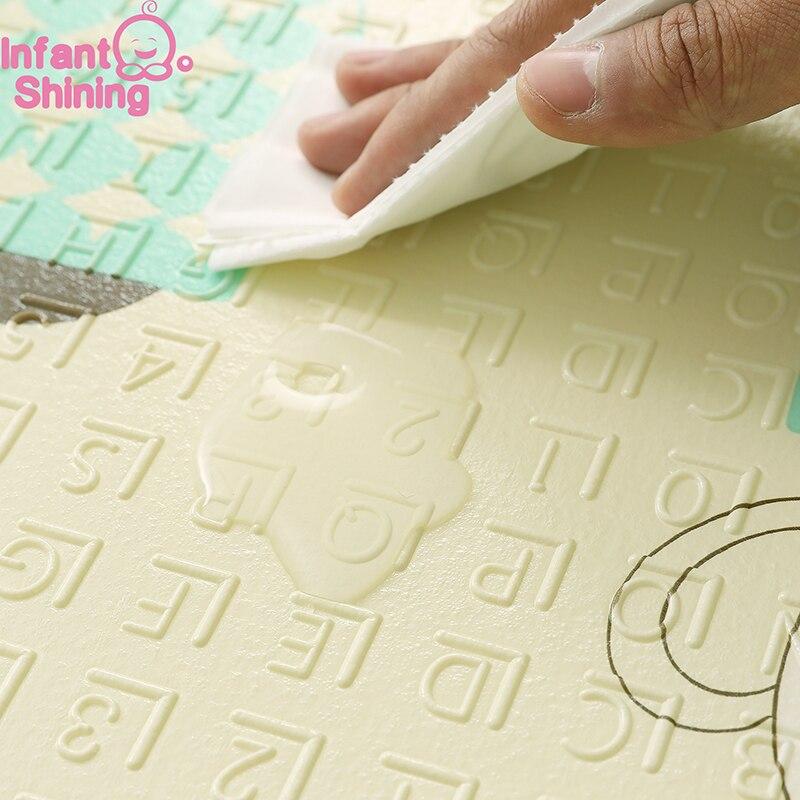 Bébé brillant 1.5 CM épais bébé tapis tapis de jeu pliable enfant tapis de jeu 200*180 CM grand enfant ramper tapis Puzzle couverture jeu Pad - 5