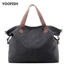 лучшая цена YOOFISH New women's bag classic canvas bag large capacity handbag leisure student bag single-shoulder bag XZ-078 Free shipping.