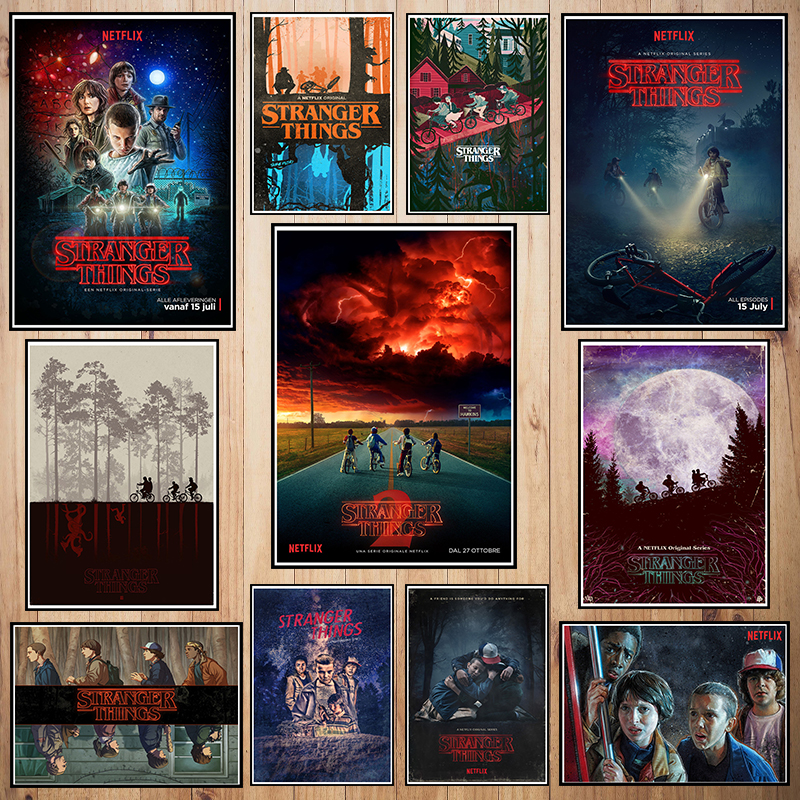 Stranger Thing Coated Paper Poster Cafe Creative Wallpaper Interior Decoration
