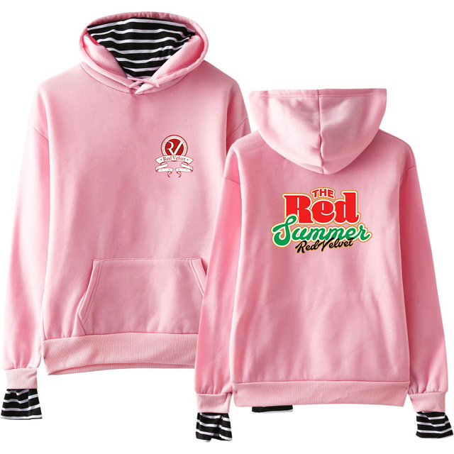 RED VELVET STRIPED HOODIE (24 VARIAN)