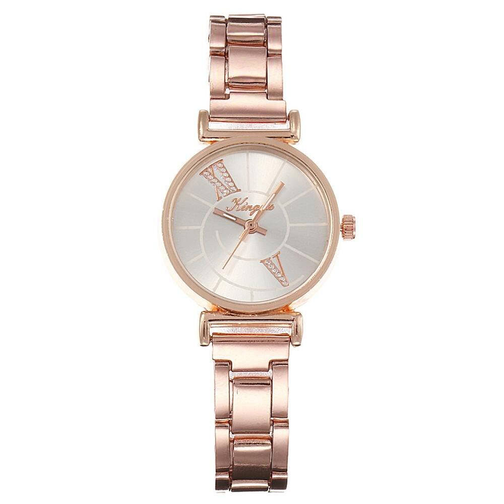 Hot Sale Women's Watch Exquisite Small Dial Bracelet Watch Luxury Brand Stainless Steel Casual Ladies Quartz WristWatch  #A