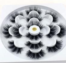 Pre sale! 7 คู่ขนตาปลอมธรรมชาติปลอมขนตายาวแต่งหน้า 3D Mink Lashes eyelash EXTENSION Mink eyelashes สำหรับความงาม