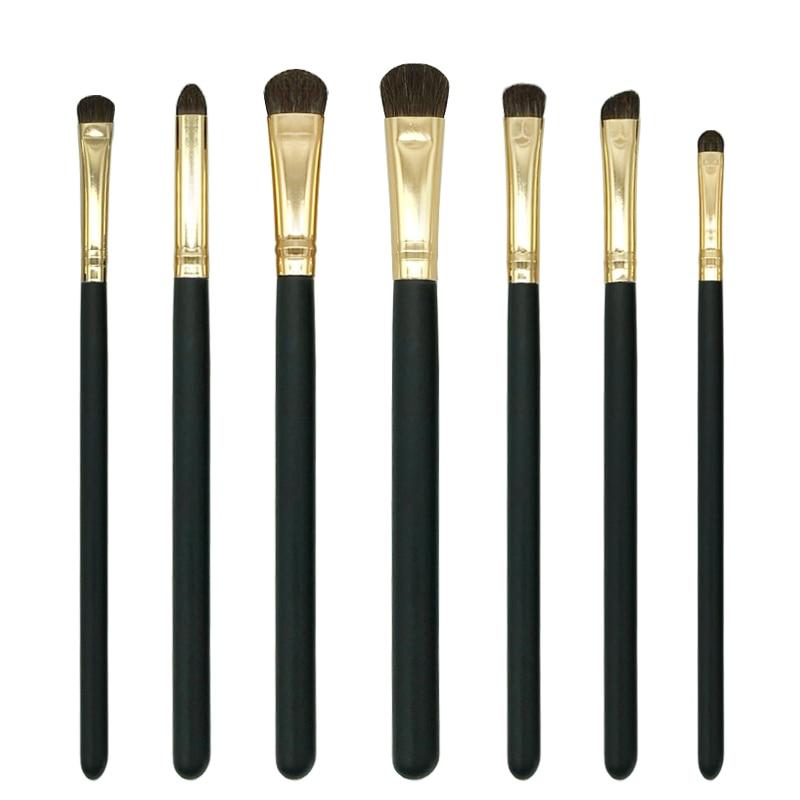 brand makeup mostarsea brushes set 7pcs/set pro soft fiber complete blending Horse Hair 4