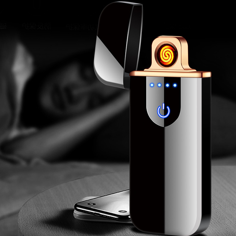 Touch Screen Usb Charging Lighter Electronic Cigarette Lighters Small Rechargeable Electric Lighter Windproof