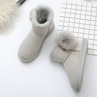Wholesale 2018 New Fashion classic Short boots genuine sheepskin ankle snow boots 100% Real wool women boots winter shoes