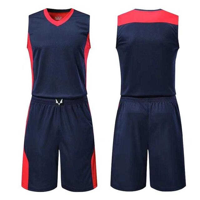 0e28eea24a46 sapphire colors Men s Women Cheap Basketball Jersey Uniforms Set 2018 Big  Size L-5XL Set Breathable Mens basketball jerseys DIY