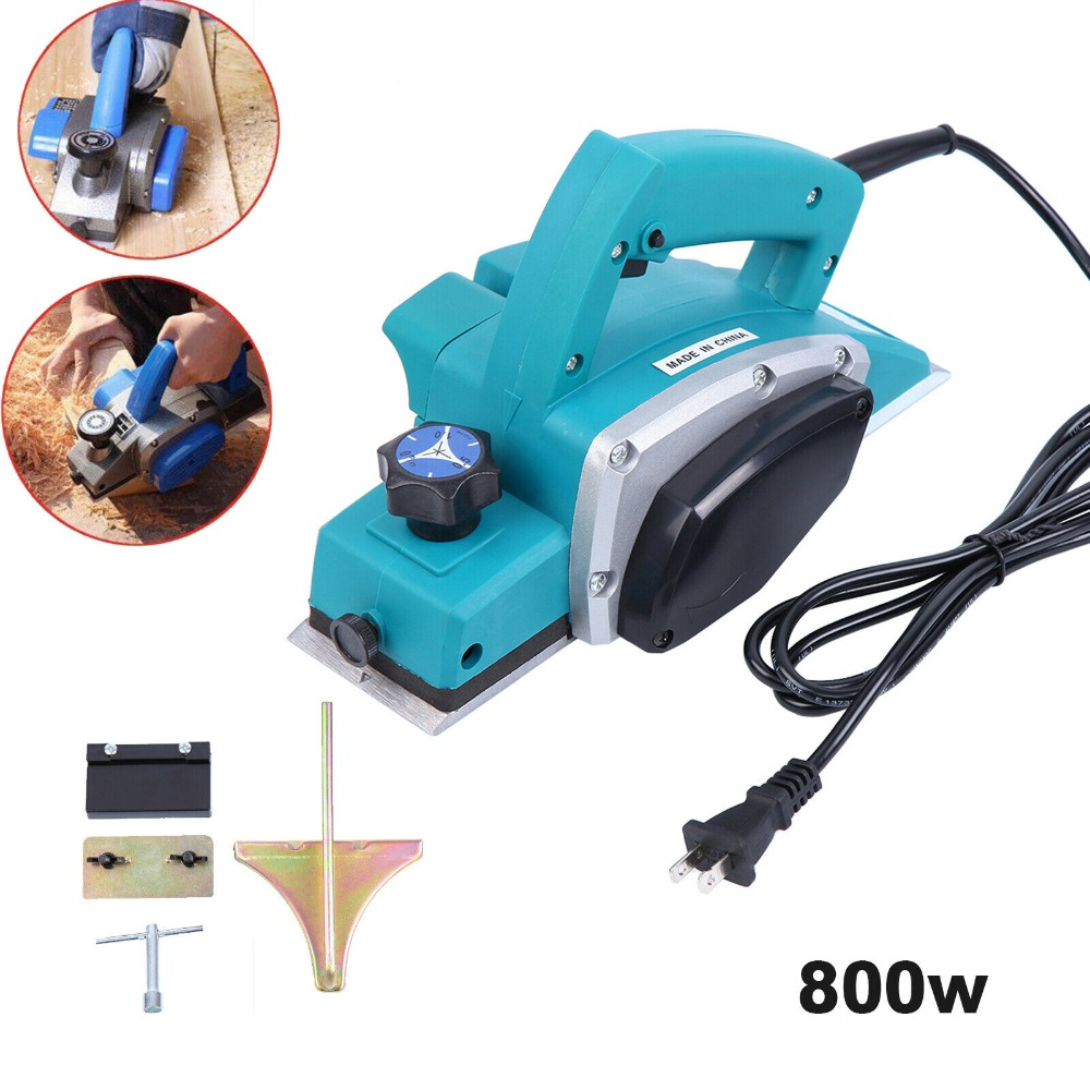 (Ship From US) 800w Powerful Electric Wood Planer 3-1/4-Inch Woodworking Surface Professional Woodworking Machine