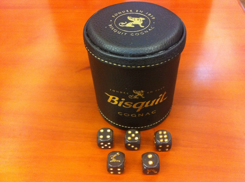 Bisquit High-grade leather cup + Hennessy sieve dice combination of super