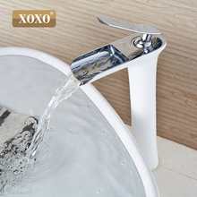 Free Shipping Waterfall Brass Vanity Sink Faucet Chrome Bathroom Sink Basin Mixer Tap цена