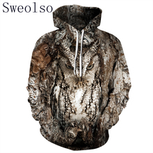 Women/Men 3D Owl Print Hoodie Winter Casual Pullover Hooded Long Sleeve Sweatshirt Clothing Fashion Tracksuits Animal Streetwear