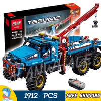 1912pcs 2in1 Techinic 6x6 All Terrain Tow Truck Research Explorer Vehicle 20056 Model Building Blocks Toys Compatible With lego