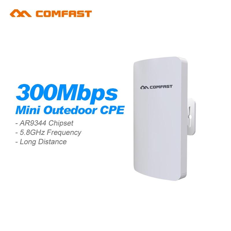 ФОТО 2Pcs COMFAST CF-E120A 300Mbps 5.8Ghz Outdoor Mini Wireless AP Bridge WIFI CPE Access Point 11dBi WI-FI Antenna Nanostation