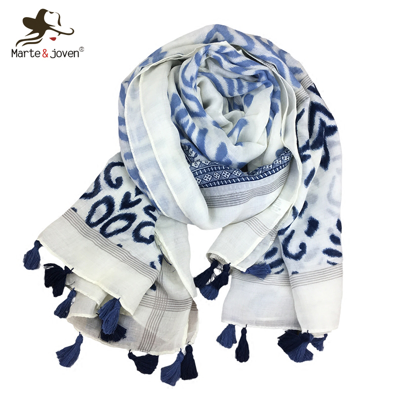 Back To Search Resultsapparel Accessories Marte&joven Colorful Art Flower Printed Tassels Scarf Spring Soft Shawl For Women Big Size Elegant Beach Scarves Pashmina Hijab