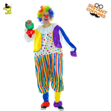 QLQ New Funny With Jumpsuit wig Adult Suit Fancy Dress For Joker Clown Party Costume