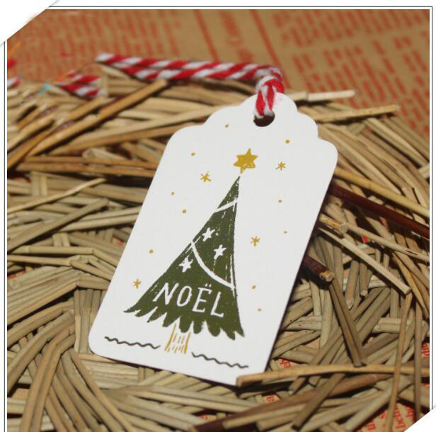 noel christmas diy creative painted bookmark tag message wishing card clothing with 47cm100 pieces - Noel Christmas Store