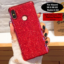Bling Glitter Plating Soft TPU Case For Xiaomi MI 6 6X Housing On Redmi 6A Note Note6 Pro Slim Silicon Cover