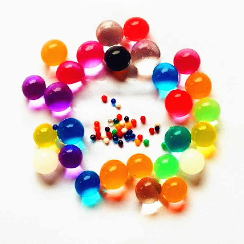 100 Buah/Banyak Bentuk Mutiara Lembut Kristal Tanah Air Beads Lumpur Tumbuh Magic Jelly Bola Pernikahan Rumah Ornamen Tanaman Menumbuhkan Dekorasi