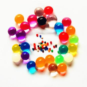 100 sztuk partia Pearl kształt miękki kryształ wodne kuleczki do gleby błoto rosną magiczne kulki żelowe ślub ozdoba domu roślin kultywowania dekoracji tanie i dobre opinie Mixed color Kryształ gleby Crystal Soil Decoration fertilizer toys