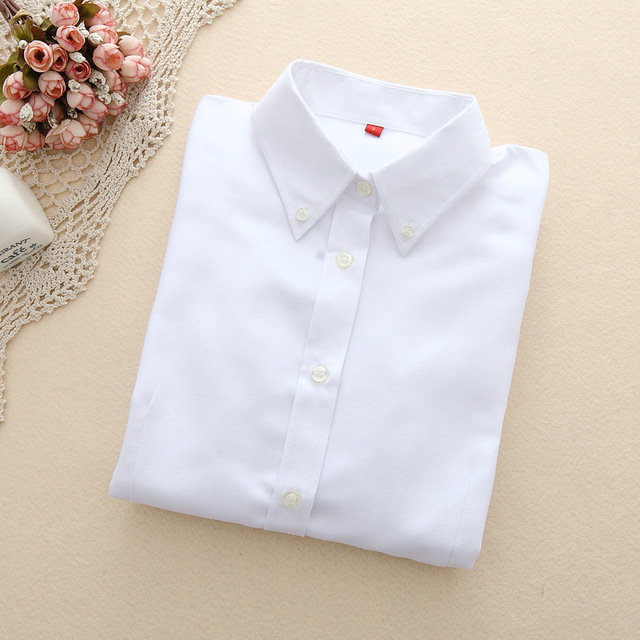 FEKEHA Women Blouses 2019 Long Sleeve Oxford Ladies Tops Office Long Sleeve Shirts Women Student Blusas Camisas Mujer 1
