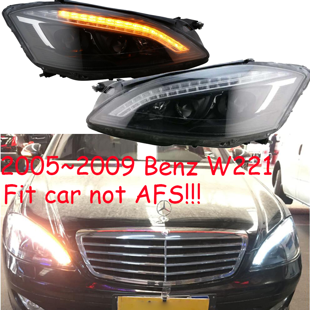 Phare W221, pour voiture sans fonction AFS, 2005 ~ 2009, feu de brouillard W221, accessoires de voiture, feu de jour W221, TFSI, TSI, phare W221Phare W221, pour voiture sans fonction AFS, 2005 ~ 2009, feu de brouillard W221, accessoires de voiture, feu de jour W221, TFSI, TSI, phare W221