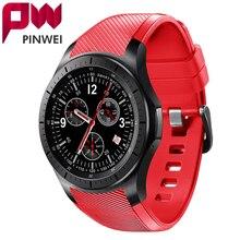 Pinwei amoled bütün yuvarlak hd ekran android smart watch dm368 wifi bluetooth gps destekler ile smartwatch adımsayar kalp ratin