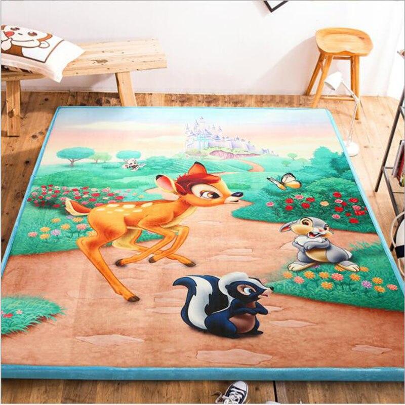 Tapis de bande dessinée enfants Infantile Brillant de Bébé tapis de sol tatami Puzzle Épaissie Tapete Infantil Chambre Ramper Pad Pliage