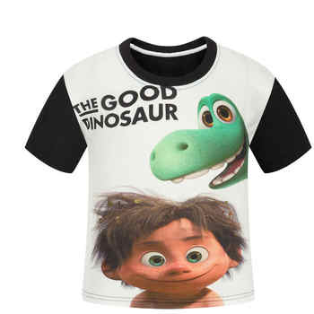 2017 Boy The Good Dinosaur T Shirt Children Summer Cartoon Printed Clothes Girl Cotton T-shirt Baby tshirt summer Tee kids Tops