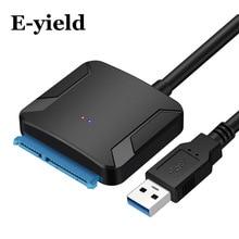"""USB 3.0 Sata adaptör dönüştürücü kablosu 22pin Sata iii to USB3, 0 adaptörleri için 2.5 """"3.5"""" sata HDD SSD"""