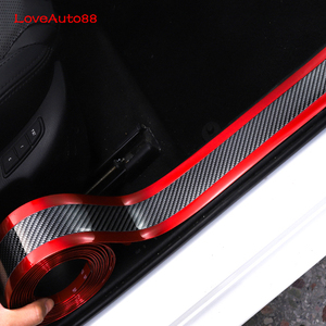 Image 2 - Car Accessories Car Sticker Carbon Fiber Door Sill Scuff Plate Guards Door Sills Protector For Volkswagen VW T Roc Troc