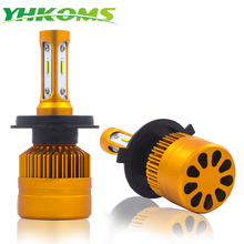 YHKOMS Car Headlight H4 H7 LED H11 H8 H9 H1 H3 9005 9006 HB3 HB4 Headlight Bulb Auto Fog Light Lamp 8000LM CSP Chip 6000K 12V цены онлайн